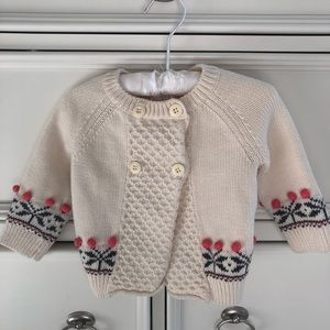 Hanna Andersson fair isle cardigan 6-12 months